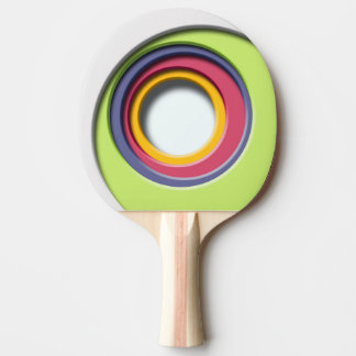3D, circular Forms, degraded of color Ping Pong Paddle