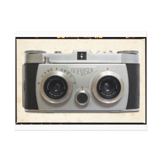 3D Classic Camera Stretched Canvas Prints