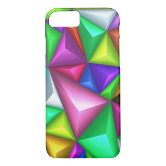 3D Colorful Polygonal Background iPhone 7 Cases