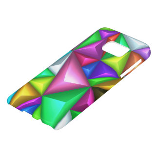 3D Colorful Polygonal Background Samsung S7 Cases