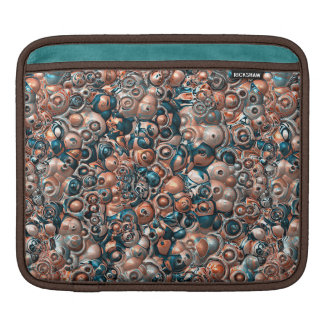 3D Copper And Blue Abstract iPad Sleeve