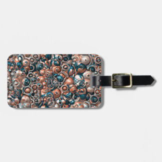 3D Copper And Blue Abstract Luggage Tag