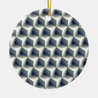 3D Cubes Pattern Ceramic Ornament