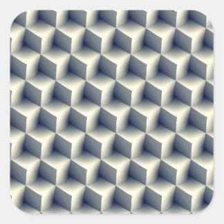 3D Cubes Pattern Square Sticker