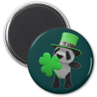 3d Cute Panda Leprechaun (editable) Magnet