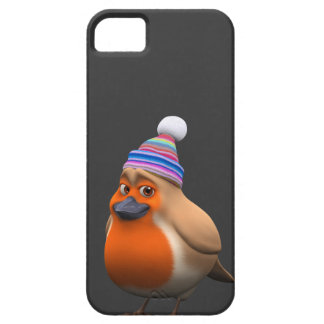 3d Cute Robin Wooly Hat iPhone 5 Cover
