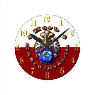 3D Czerwińskch Family Crest Round Clock