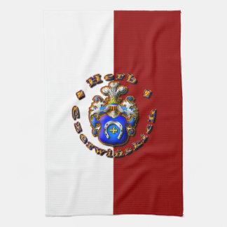 3D Czerwińskch Family Crest Tea Towel