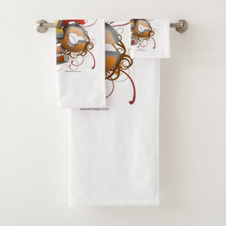 3D Dance (Fall) Bath Towel Set