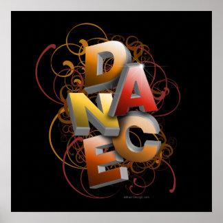 3D Dance Fall Poster