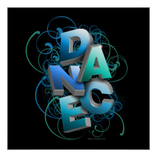 3D Dance Spring Posters