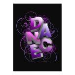 "3D Dance (Summer) Recital Invitation 5"" X 7"" Invitation Card"