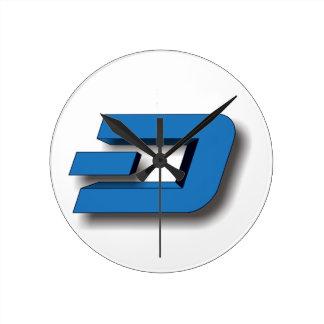 3D DASH Logo Round Clock