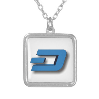 3D DASH Logo Silver Plated Necklace
