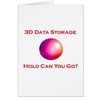 3D Data Storage Card