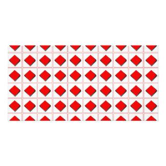 3D diamonds suit pattern Personalized Photo Card