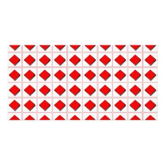 3D diamonds suit pattern Photo Card Template