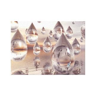 3D Digital Abstract Canvas Art Print - Droplets