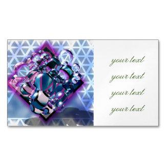 3D,digital graphic design,colorful,sci fi,futurist Magnetic Business Cards
