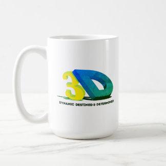 3D - Dynamic Destined & Determined Coffee Mug