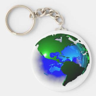 3d earth key ring