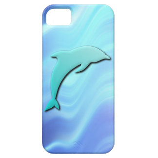 3D Effect Blue Dolphin iPhone 5 Cases