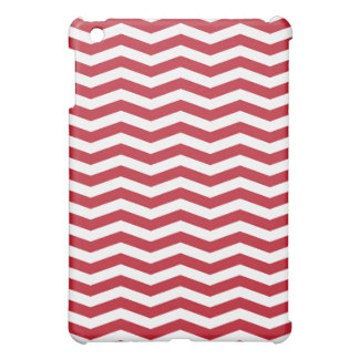 3D Effect Red Holiday Zigzag Pattern iPad Mini Cases