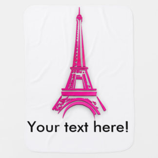 3d Eiffel tower, France clipart Baby Blanket