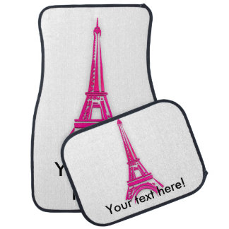 3d Eiffel tower, France clipart Car Mat