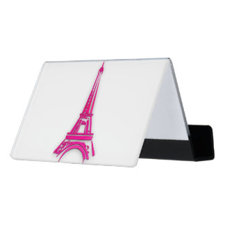 3d Eiffel tower, France clipart Desk Business Card Holder