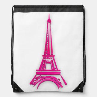 3d Eiffel tower, France clipart Drawstring Bag
