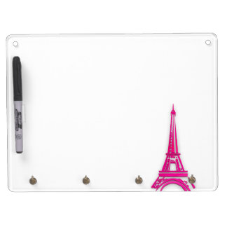 3d Eiffel tower, France clipart Dry Erase Board With Key Ring Holder