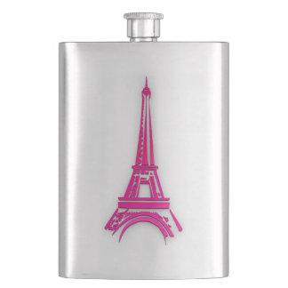 3d Eiffel tower, France clipart Hip Flask