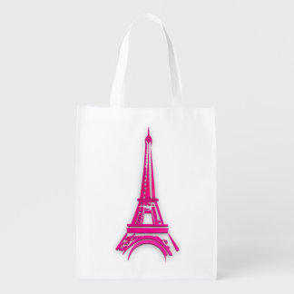 3d Eiffel tower, France clipart Reusable Grocery Bag
