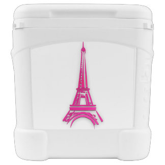 3d Eiffel tower, France clipart Rolling Cooler