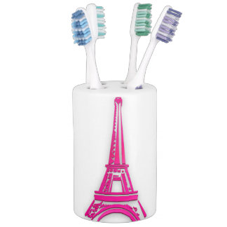 3d Eiffel tower, France clipart Soap Dispenser And Toothbrush Holder
