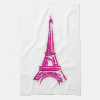 3d Eiffel tower, France clipart Tea Towel