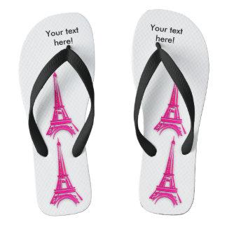 3d Eiffel tower, France clipart Thongs