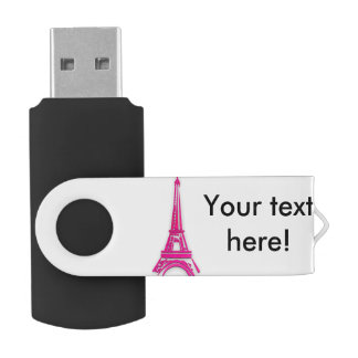 3d Eiffel tower, France clipart USB Flash Drive