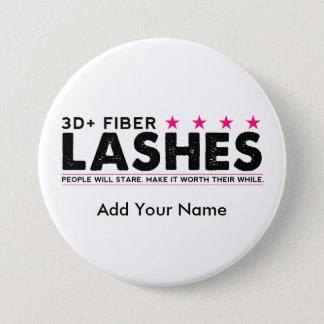 3d Fiber Lashes Personalized Button