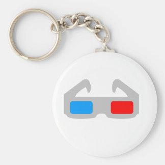3D Film Glasses Keychains