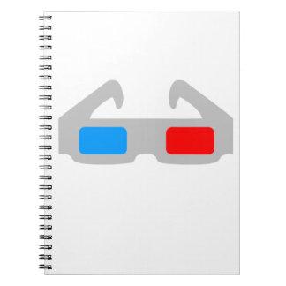 3D Film Glasses Notebooks