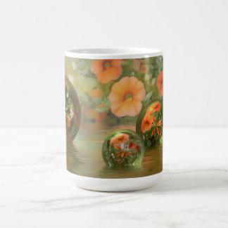 3D Floral & Marble Mug
