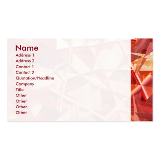 3D folded abstract Pack Of Standard Business Cards