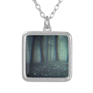 3D forest Silver Plated Necklace
