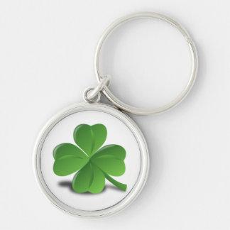 3D Four Leaf Clover Key Ring