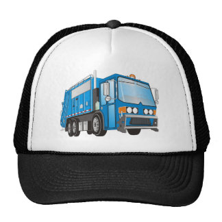 3d Garbage Truck Blue Cap