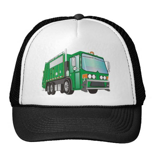 3d Garbage Truck Green Mesh Hat