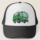 3d Garbage Truck Green Trucker Hat