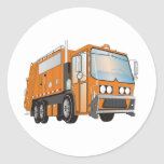 3d Garbage Truck Orange Stickers